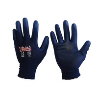 BLACK WORK GLOVES -1 pair - Medium