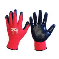 BLACK WORK GLOVES -1 pair - Large